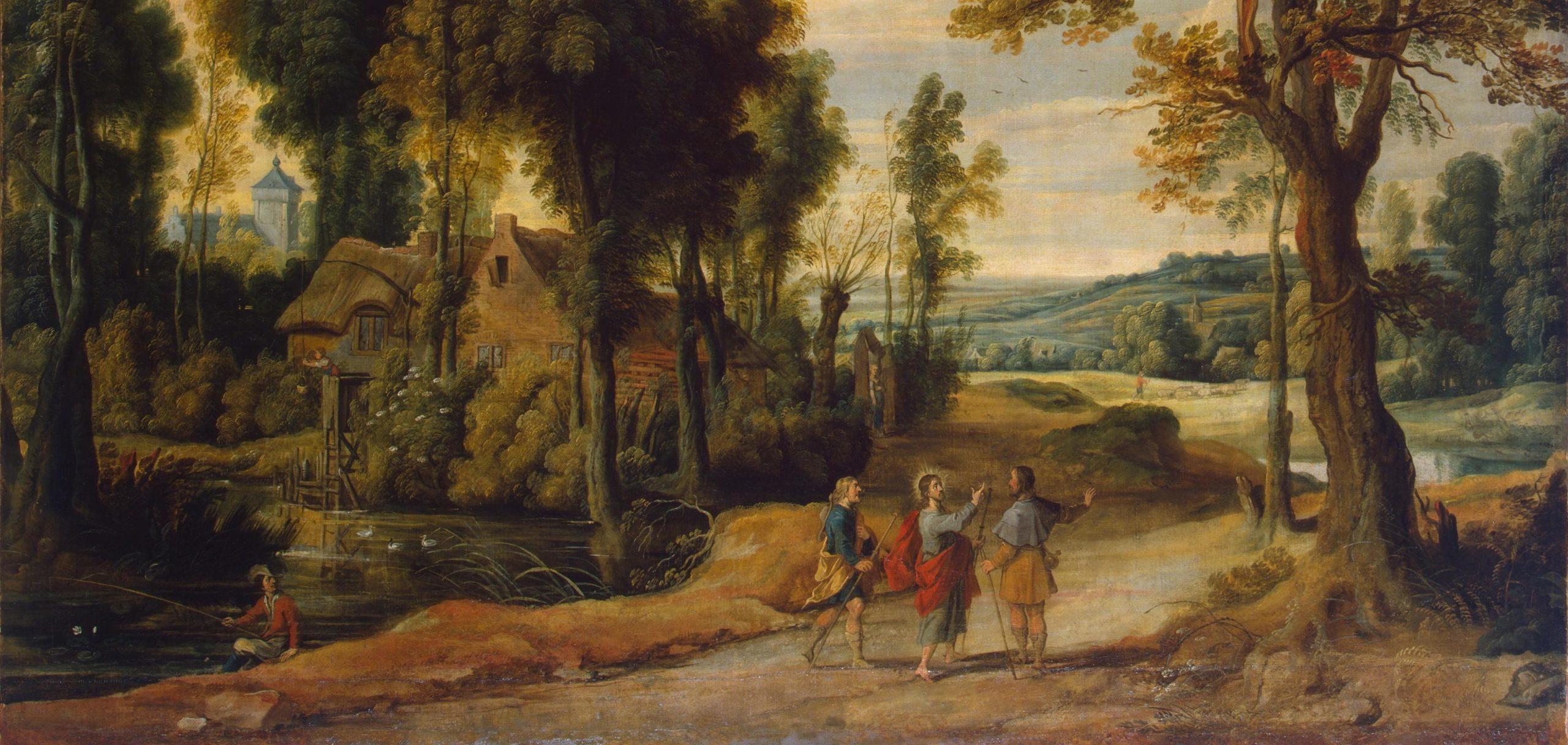 Jesus with Emmaus pilgrims