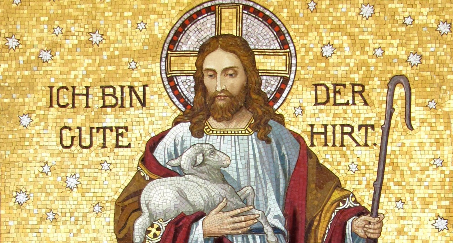 Jesus holding a sheep